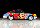 Pomalované Porsche 911 007 Petera Klasena: Klasika po zásahu umělce na prodej