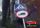 Video: Tohle nevy�lo. Chodec usko�il p�ed autem a dostal zna�kou po hlav�