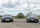 Video: BMW 730d xDrive a Jaguar XJ 3.0d ve sprintu na 400 metr�. Co bude rychlej��?