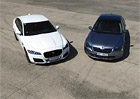 Video: Sprint 0 a� 100 km/h. Jaguar XF vs. �koda Superb. Skoro dvousekundov� zpo�d�n�!