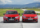 Video: Honda Civic Type R vs. VW Golf GTI Clubsport � test rychlosti a p�et�en�