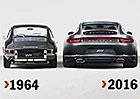 Porsche 991 versus 901: Opravdu se novinka o tolik zvětšila? Je to trochu jinak...