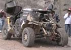Těžká havárie Carlose Sainze na Dakaru. Tohle už mechanici neopraví