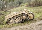Válečná pásová motorka NSU HK-101 Kettenkrad míří do aukce