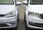 Je hezčí Škoda Octavia, nebo Volkswagen Golf? Hodnotili Češi! (video)