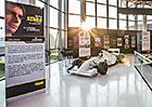 Tovární muzeum Lamborghini vzpomíná na Ayrtona Sennu a vystavuje jeho monoposty