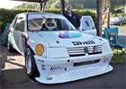 Tento Peugeot 205 byl bestií pro závody do vrchu. Pomáhala mu technika Schumiho F1