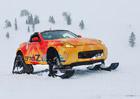 Stylově na hory? Nissan 370Zki je neobvyklý roadster se sněhovými pásy!