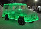V Rusku vyrobili Mercedes třídy G z ledu. Plně funkční...