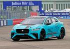Závodní elektromobil Jaguar I-Pace eTrophy se předvedl v akci