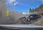 Volvo XC70 předvedlo své kvality při čelní srážce s nákladním vozem