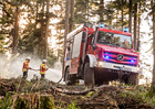 Mercedes-Benz Unimog jako nepostradatelný pomocník pro boj s lesními požáry