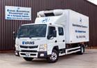 Fuso Canter zaujme praktickou úpravou pro Evans European Transport