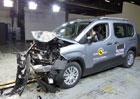 Euro NCAP 2018: Peugeot Rifter, Citroën Berlingo a Opel Combo – Čtyři hvězdy musí stačit